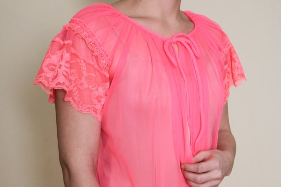 Neon Hot Pink Sheer Negligee Cover