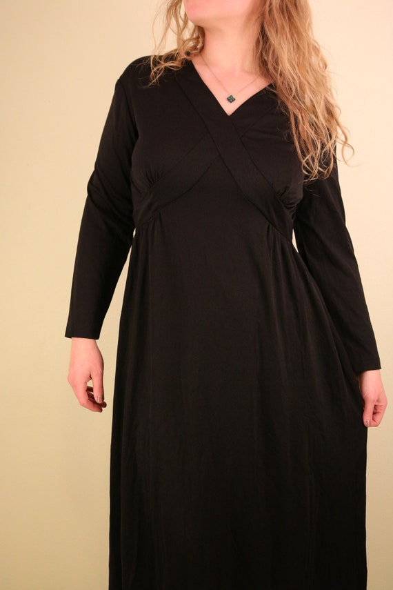 1960's Black Ceremony Witchy Coven Long Sleeve Ma… - image 2