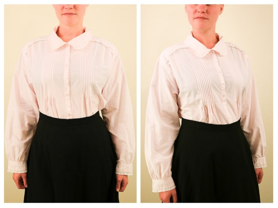 1990's Vintage Laura Ashley Light Pink Long Sleev… - image 1