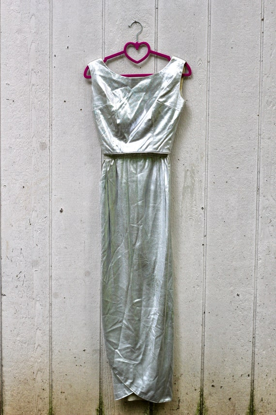 Absolutely Stunning 60s Silver Formal Dress Set