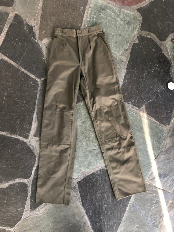 60s Green French Army Pants
