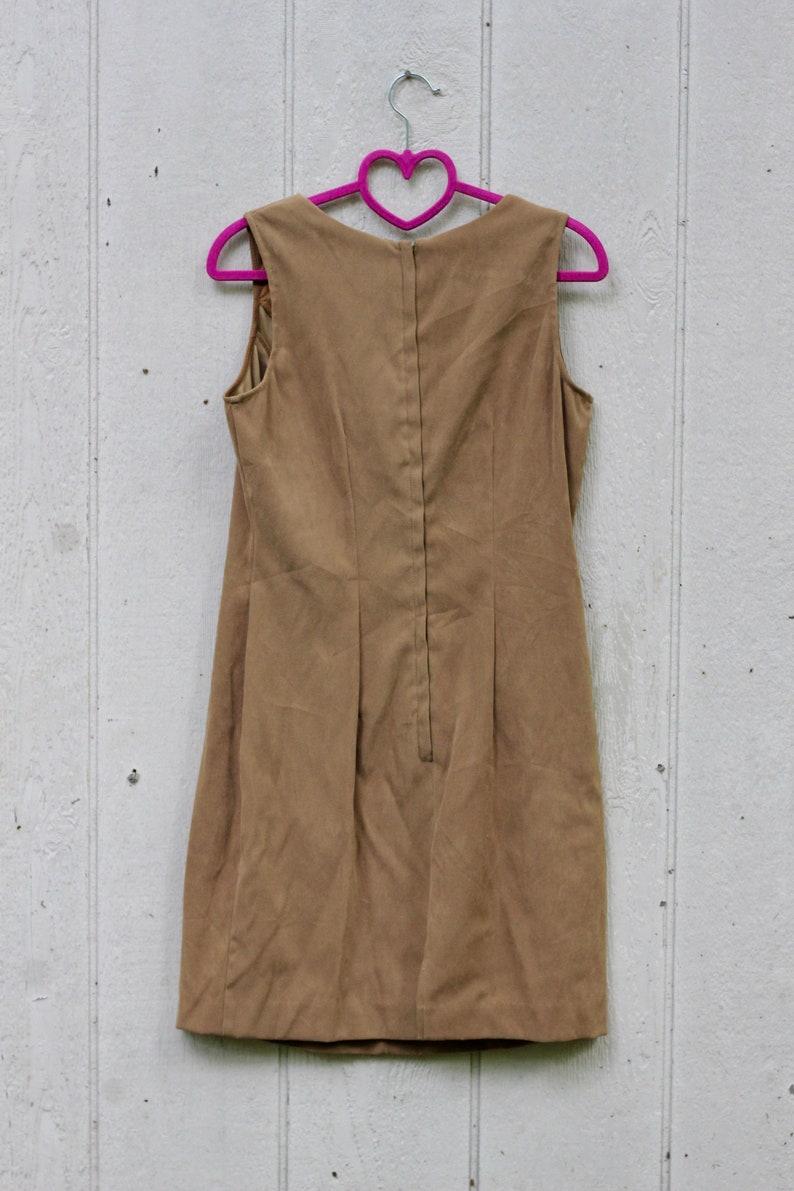90s Minimal Tan Sheath Dress by Dawn Joy