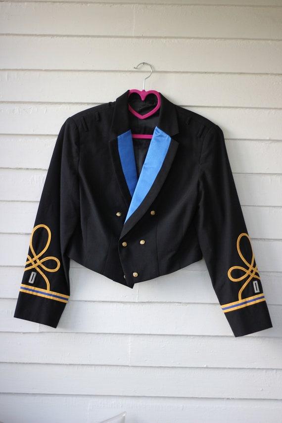 80s Cropped Military Blazer