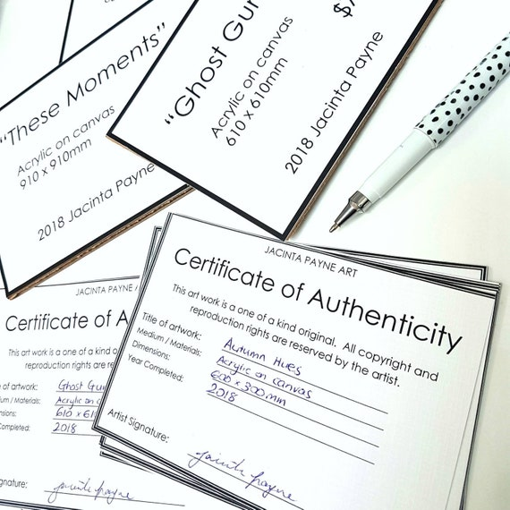 Artwork Certificate Of Authenticity Template from i.etsystatic.com