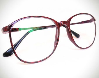 cba18186ed 1990s Carbon Fiber Non-Prescription Vintage Eyeglasses with Non-Glare Lenses   Ready-to-Wear