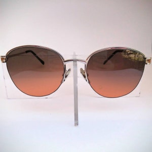 8af5da90c4 Semi-Rimless Non-Prescription Vintage String-Mount Glasses with Tinted  Lenses  Ready-to-Wear