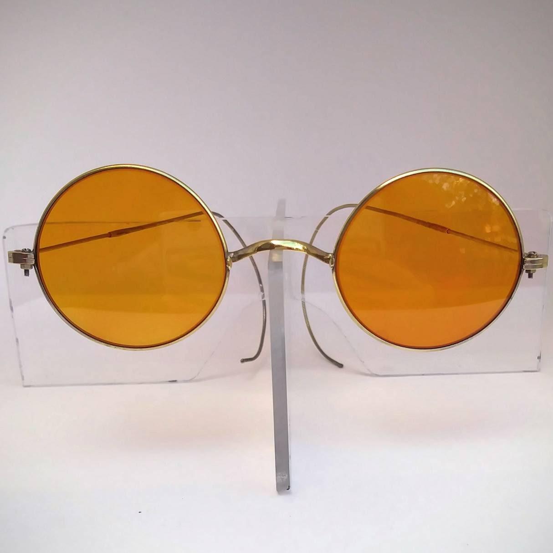 d4e1b30ba3 Antique Non-Prescription Windsor Eyeglasses with Tinted Amber Lenses  Ready  to Wear