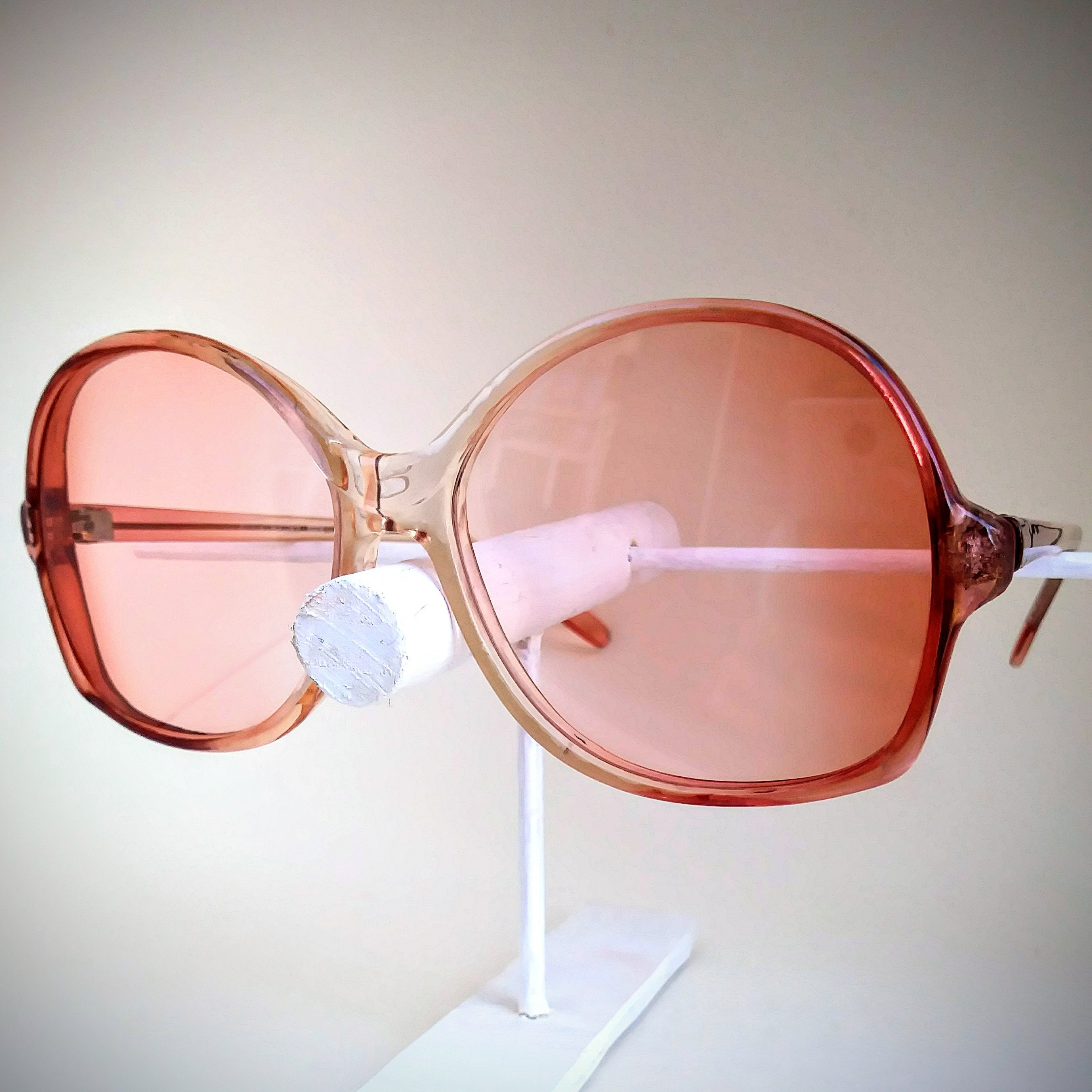 6b3efc6dfd Ella Non-Prescription Vintage Eyeglasses with Rose Tinted Lenses  Ready to  Wear