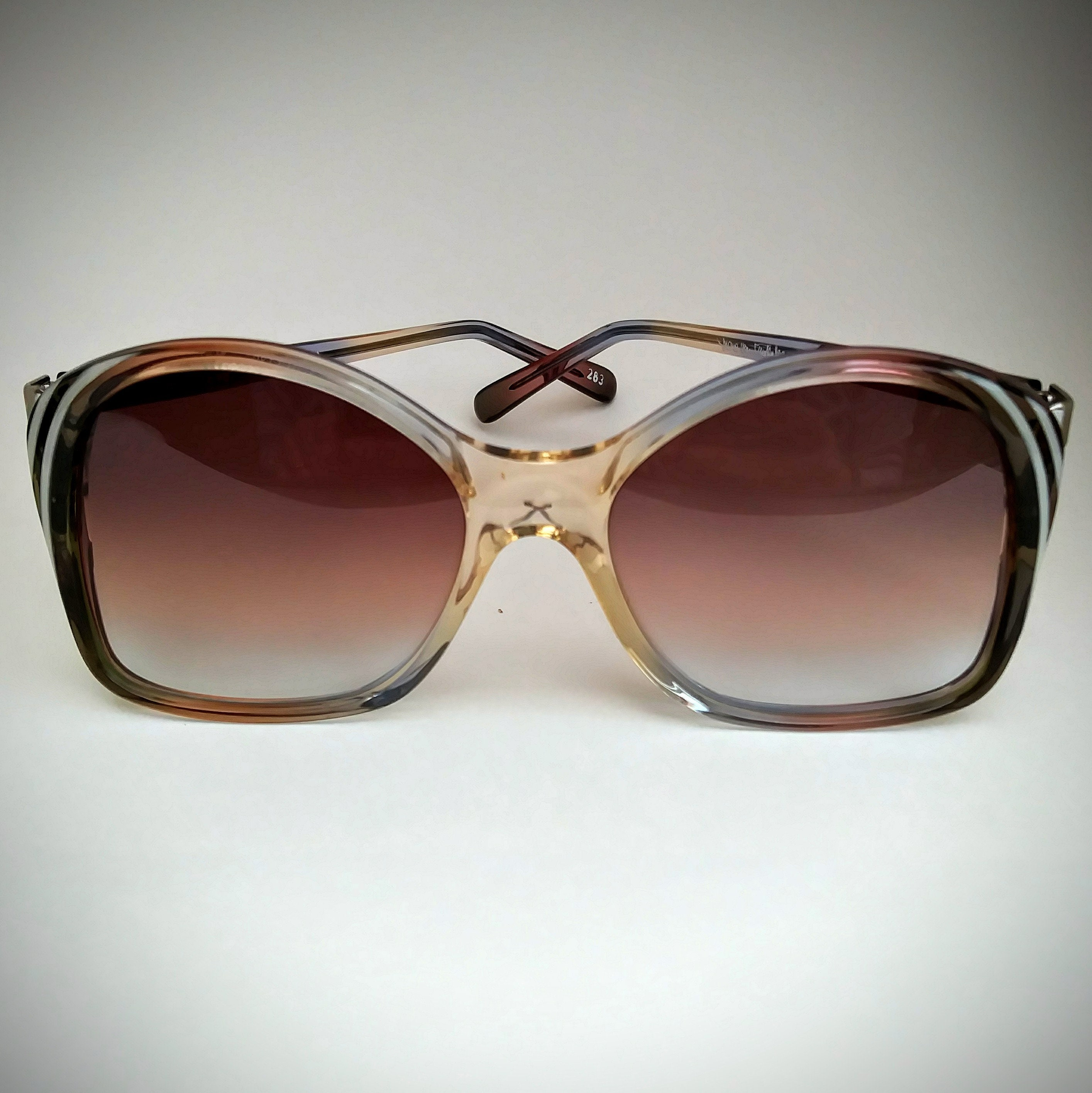 b71c181a0b DVF Non-Prescription NOS Vintage  Valencia  Butterfly Sunglasses with  Hand-Tinted Lenses  Ready-to-Wear