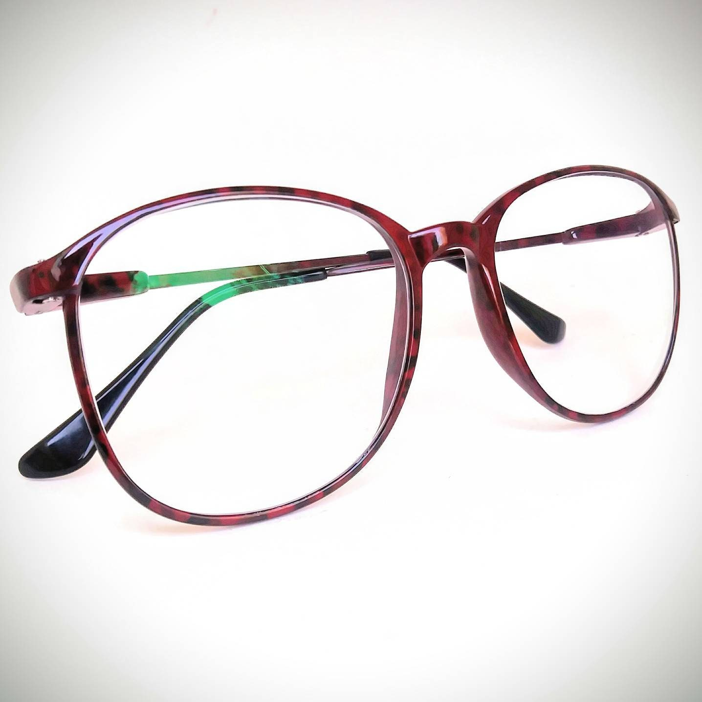 fc6ddc28a08a5 1990s Carbon Fiber Non-Prescription Vintage Eyeglasses with Non-Glare Lenses   Ready-to-Wear