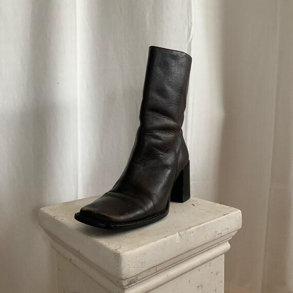 Vintage Steve Madden Square Toe Boots