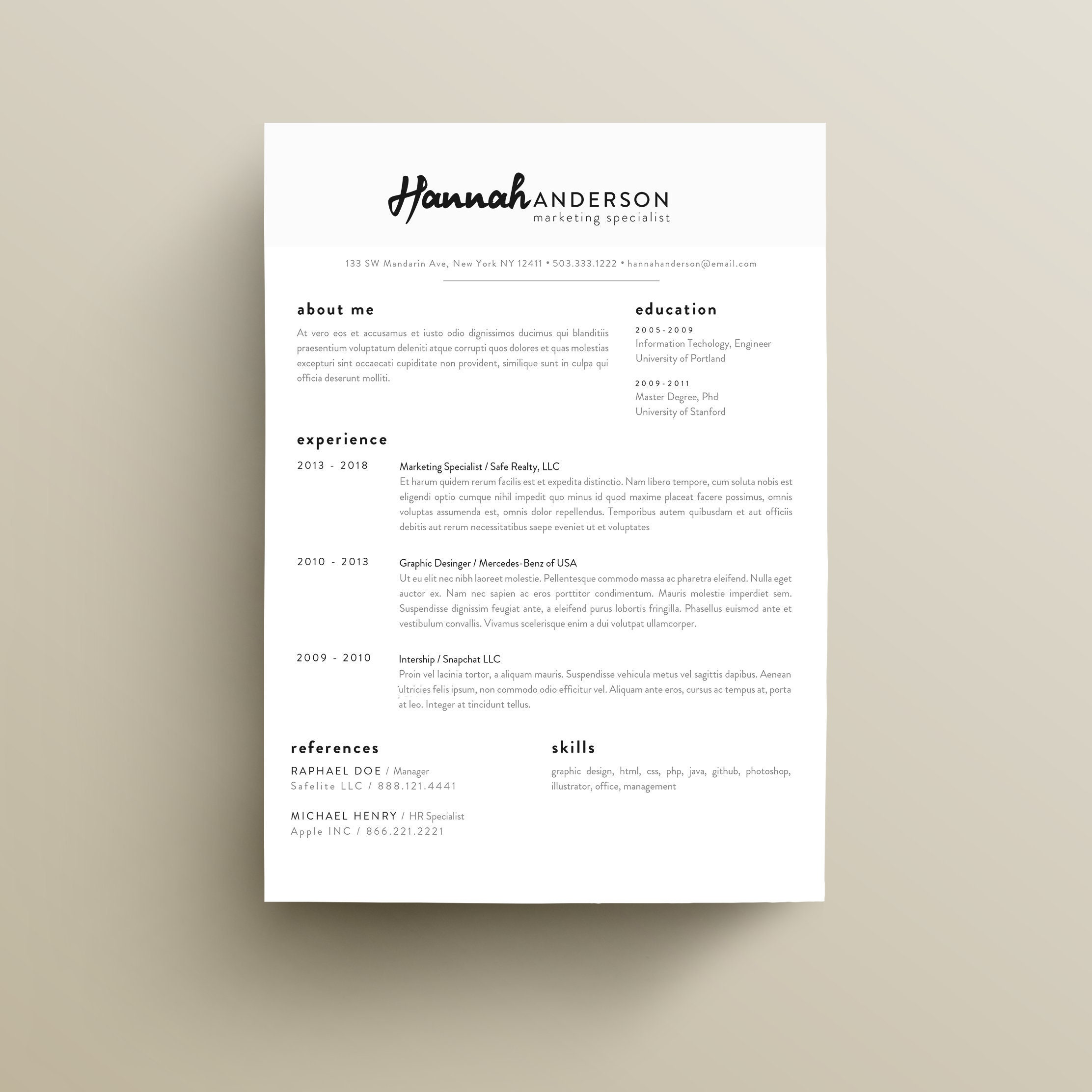 95+ Eye Catching Resume Template - 65 Eye Catching CV Templates For