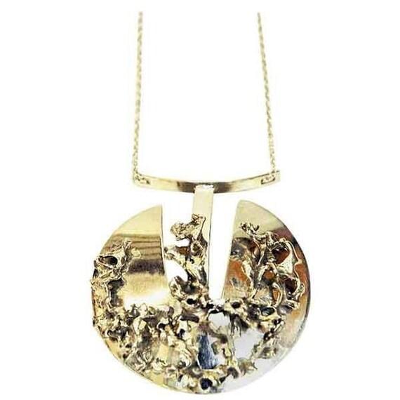 Silver Brutalist necklace by Valon Kulta & Hopea,