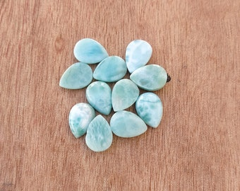 10X8mm Size Natural Larimar Loose Gemstone Small Size Larimar Stone Tinny Oval Larimar Cabochon Beautiful Oval Shape MM Size Sky Larimar