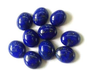 18162 Size 17x12x5.5 MM Pendant Stone Oval Shape Jewellery Making Flat Back Side Lapis Natural Blue Lapis Lazuli Cabochon Ring Stone