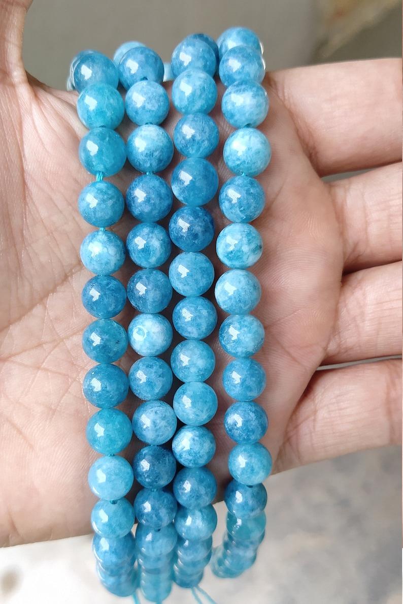AAA High Quality 8mm 10mm Aquamarine Round Beads Full Strand 15