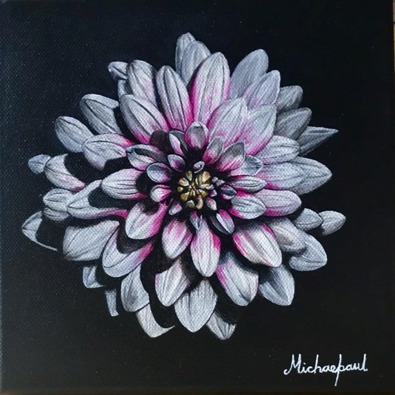 8x8 Dahlia Art Canvas