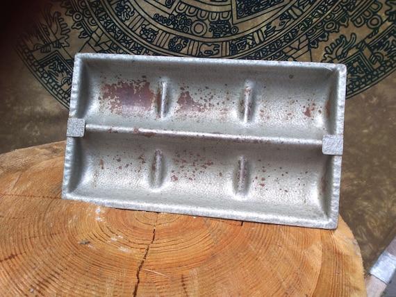 Cottage Chic 3 Door Divided Storage Bin Distressed White Enameled Metal