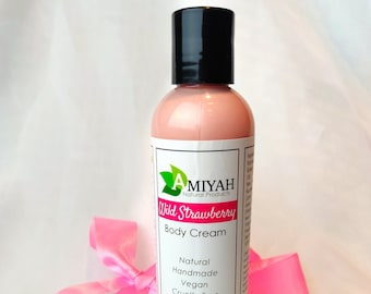 Organic Shea Butter Lotion 4 oz, Natural Body Lotion, Scented Lotion, Hand Cream, Foot Cream, Handmade Lotion by Amiyah Natural Products