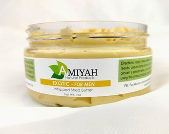 Mens Body Butter 4 oz, Mens Shea Butter, Men Skin Care, Gift For Him, Eczema Salve, Anxiety Relief by Amiyah Natural Products