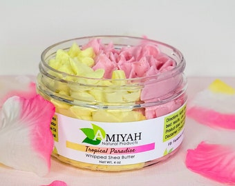 Whipped Shea Butter 4 oz, Handmade Body Butter, For Hair & Skin, Shea Butter Raw, Eczema Salve, Gift For Her, Anxiety Relief by Amiyah NP