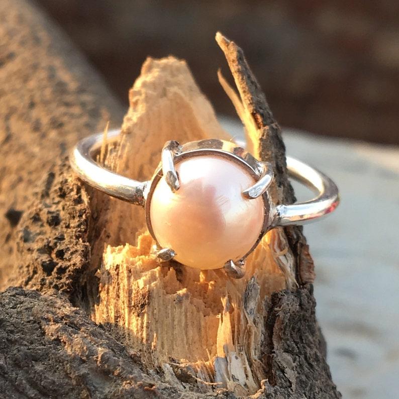 Natural Pearl Ring Beautiful Natural Pearl Ring Pearl Ring- Gemstone Jewelry Handmade Jewelry