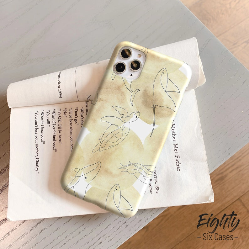 Turtle dolphin iPhone 11 Pro 12 Pro Max Mini case iPhone XS Max SE Apple iPhone xr case iPhone 8 iPhone 7 Plus iPhone 5 s Hard Soft es190