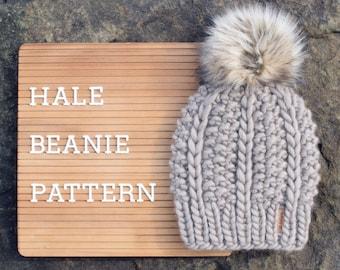 Knitting Pattern   Hale Beanie   Instant PDF Digital Download
