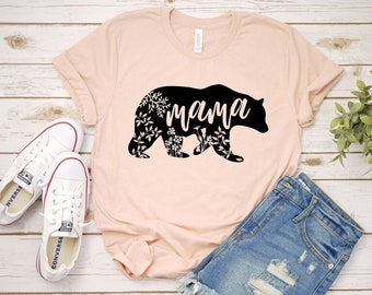 b75bae16 Mama Bear Unisex Tshirt - Mom life shirt - Mom of girls shirt - Mom of boys  shirt - Mom Shirt - Mama Shirt - Mama life shirt - plus size