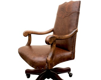 Tuscany Lodge Desk Chair  Western Style Desk Chair