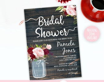 rustic bridal shower invitation template country invite rustic wedding shower invite instant download printable invitation marsalabs06