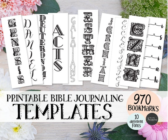 Printable Bible Bookmark Template Set Instant Download Etsy