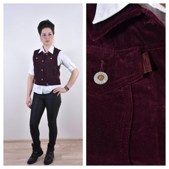 Unisex Purple Waistcoat Velvet Waistcoat Velvet Ve