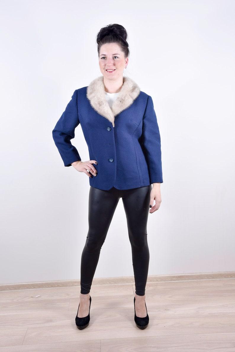 e2c9038dc045 Winter Coat Faux Fur Neck Button Down Long Sleeve Women Coat   Etsy