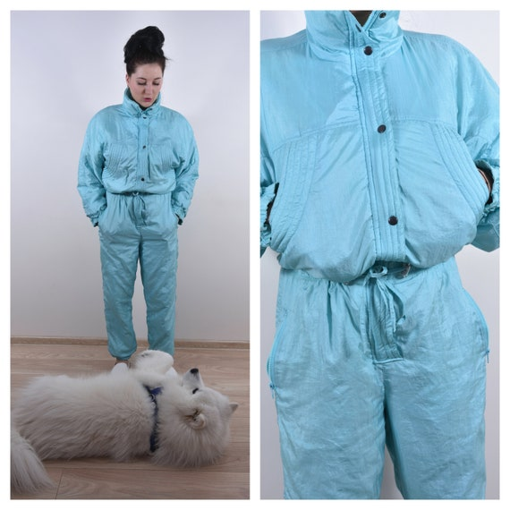 Light Blue Skiing Tracksuit Unisex Skiing Snowsuit