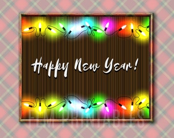 Happy new year signs   Etsy