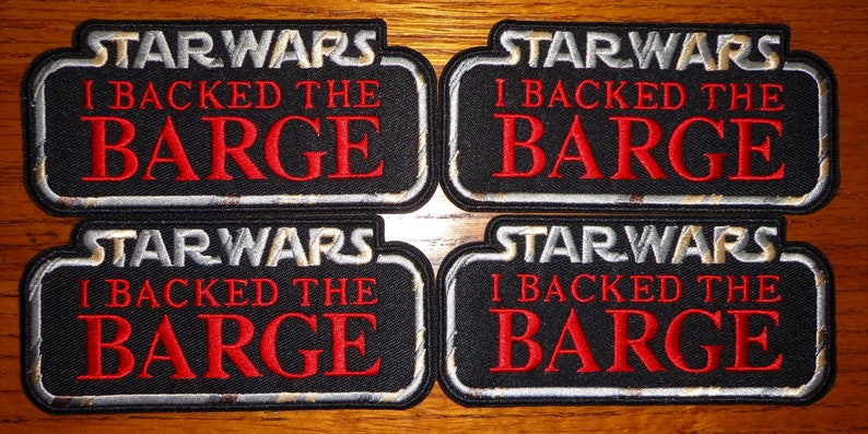 """ON SALE! Hasbro STAR WARS/""""Designed by HasLab/"""" /&/""""I BACKED the BARGE/""""patch SET"""