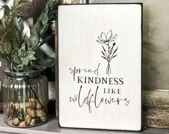 Spread Kindness Wood Sign, Kindness Gift, Rustic Wood Sign, Kindness Sign, Tiered Tray Decor, Inspirational Sign, Inspirational Wall Art