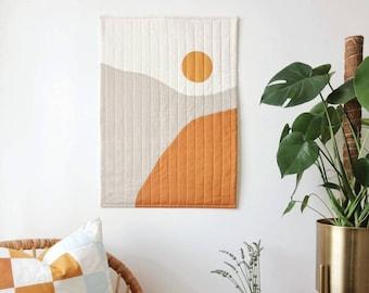 Sunrise Modern Quilt Art Wall Hanging Decor