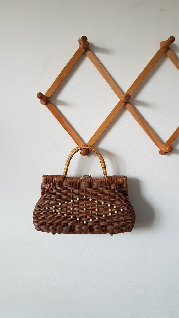 Vintage 1960s Basket Weave Purse