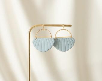 Dangle earrings, Pastel blue earrings, Wedding jewelry, Bridal earrings, Bridesmaid gift