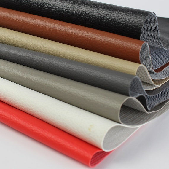 "54/"" Wide Faux Leather Fabric Vinyl Upholstery 5 Yard Roll"
