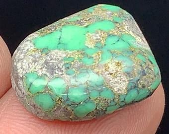 TM40 Natural Turquoise Mountain Turquoise Cabochon 6 Carat Cab Stone Untreated Gemstone Gems