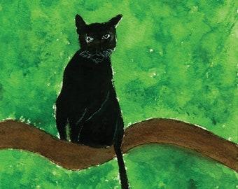 Panther Watercolor Digital Downloadable Print