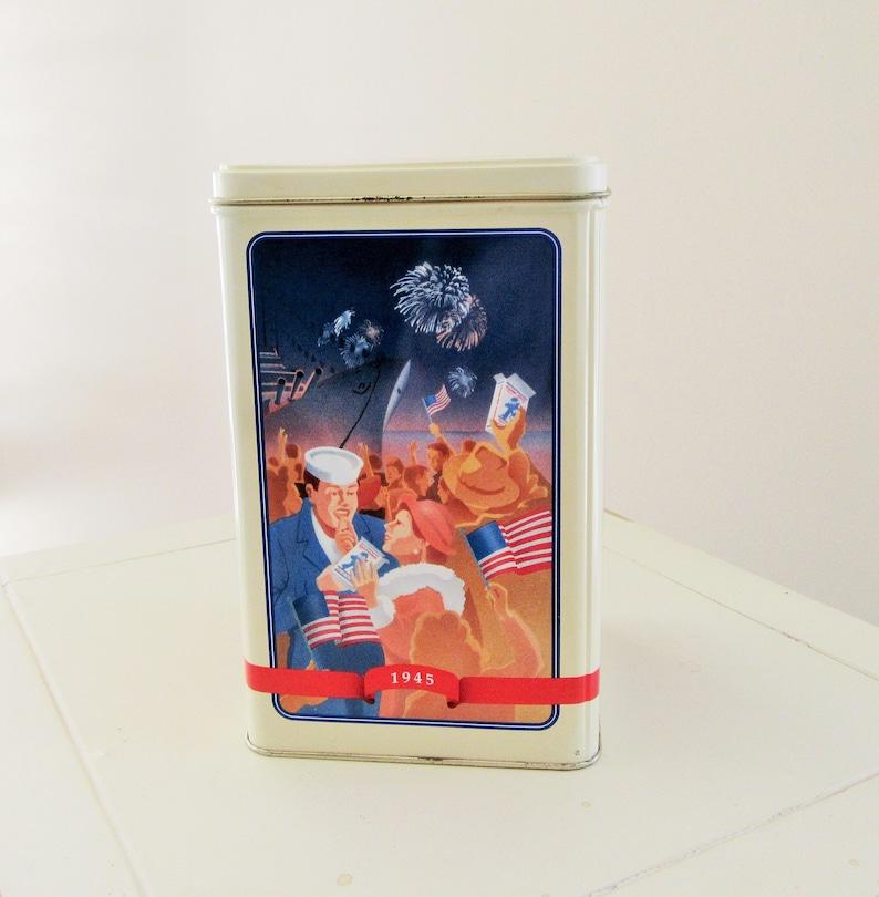 Vintage Tin Shop Display Tin Kitchen Decor Anniversary Tin Collectible Tin Gift for Her Shelf Vintage Canister Cracker Jack Tin