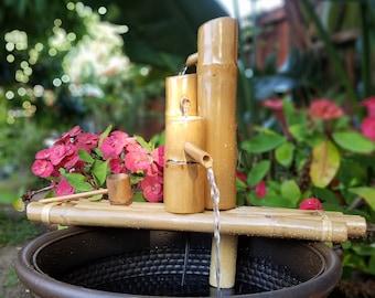 Three Tier Bamboo Fountain