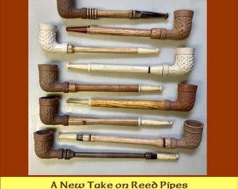 Reed Pipes, Antique Pipe, Clay Pipe, Reed Trade Pipe, Americana, Vintage Pipe, Vintage Tobacciana