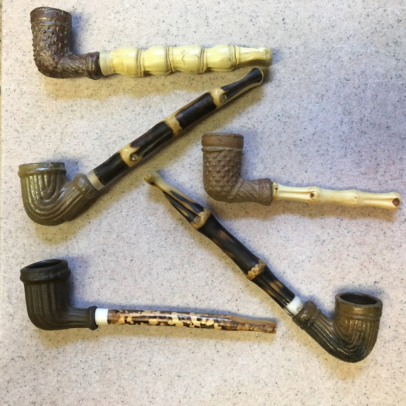 Antique Pipe, Heritage Pipe, Collectible Tobacco Pipe, Clay Pipe,  Americana, Vintage Pipe, Bamboo Pipe, American Civil War, Vintage Tobaccia