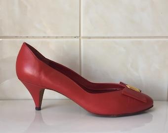 51c13b3fc0fe5 80s red heels | Etsy