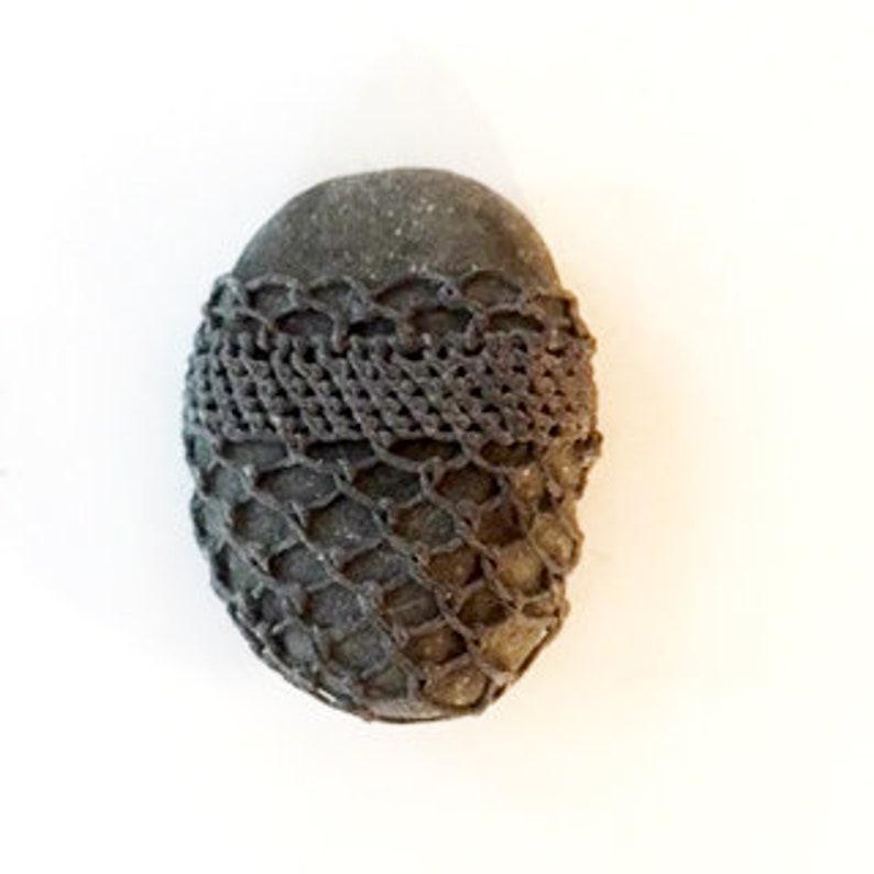 Black woven stone #19